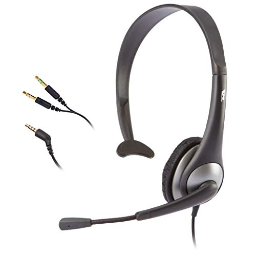Cyber Acoustics Mono Headset, headphone with microphone,