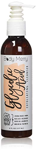 Body Merry Glycolic Acid Cleanser - Best Exfoliating Face Wash - 6 OZ - 2.5...