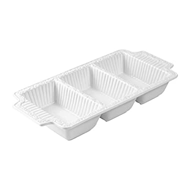 Mikasa Italian Countryside Divided Serving Dish, 15.75-Inch