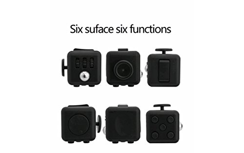 Unbeatable Stress and Anxiety Reliever Fidget Cube (White/Black) - 2