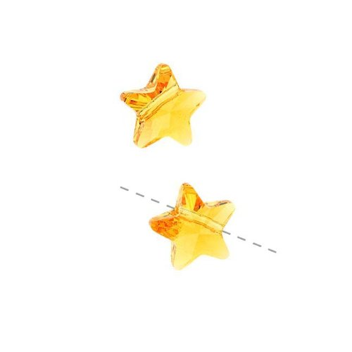 Swarovski Crystal, 5714 Star Beads 12mm, 2 Pieces, Sunflower ()