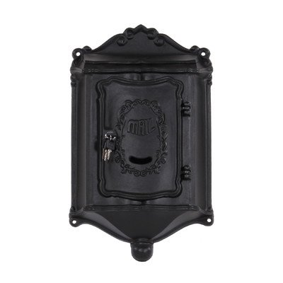 Wall Mounted Mailbox with Lock Color: Black