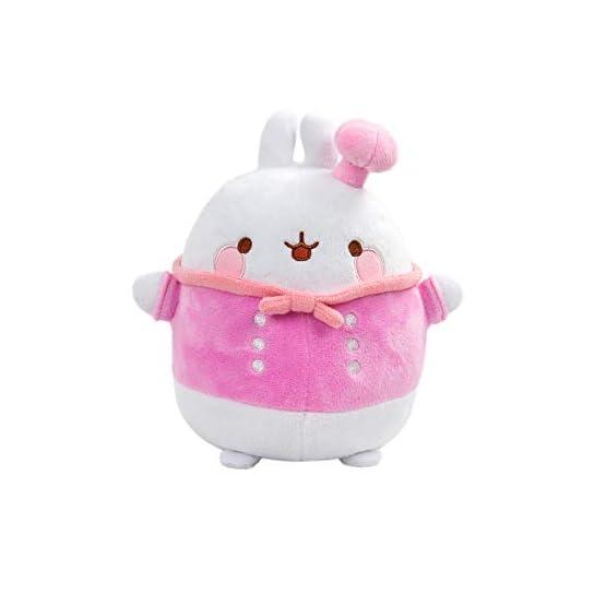 Molang Plush - Kawaii Cook   White and Pink 1