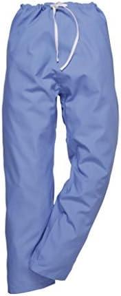 Unisex Medical Doctors Work Wear Medium, Hospital Blue Reversible Hospital Scrub Trousers