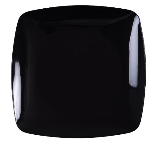 Fineline Settings Renaissance 5.5-Inch Black Rounded Square China Plate,, 120-Piece