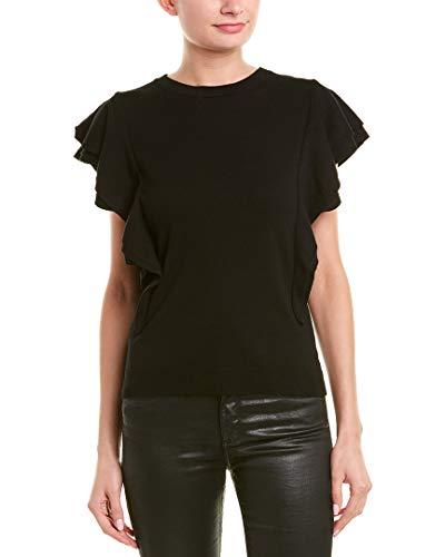 MILLY Womens Cascade Sweater, M, Black