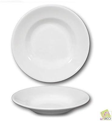 Plato hondo porcelana - D 23,5 cm - Tivoli: Amazon.es: Hogar