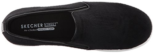 mujer Double Negro Para cuero Street sintético Skecher Up AqPY8v