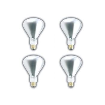30fdbf117293 (4 PACK) 375 WATT BR40 INFRARED HEAT LAMP SHATTERPROOF LIGHT BULB CLEAR  GLASS 5