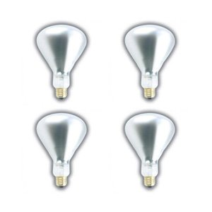 Shatter Resistant Bulb Lamp ((4 PACK) 250 WATT BR40 INFRARED HEAT LAMP SHATTERPROOF LIGHT BULB CLEAR GLASS 5,000 HOURS SUPRA LIFE BR40 HEAT LAMP SHATTER RESISTANT)