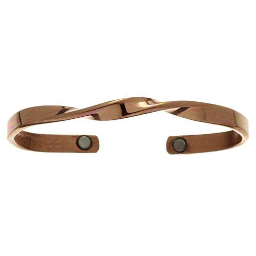 Sergio Lub Magnetic Adjustable Copper Cuff Bracelet - Copper Infinity, M