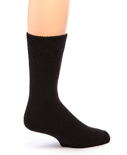 Alpaca Socks - Warrior Alpaca Socks - Women's Outdoor Terry Lined Alpaca Socks Black S