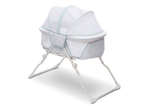 - Delta Children EZ Fold Ultra Compact Travel Bassinet, Mirage