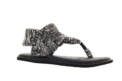 sanuk-womens-yoga-sling-2-prints-sandal-black-white-rain-size-9