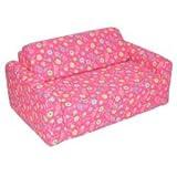 Children's Studio Chair Sleeper  Twin 38'', Pink Flower
