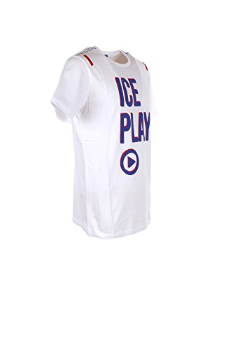 T-shirt Uomo Ice Play L Bianco F014 P400 Autunno Inverno 2017/18