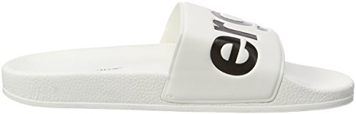 PVC black Slides Blanco White Mocasines Superga Unisex Adulto 0566w4