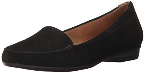 Naturalizer Women's Saban Slip-On Loafer, Black, 8 M - Loafers Naturalizer Suede