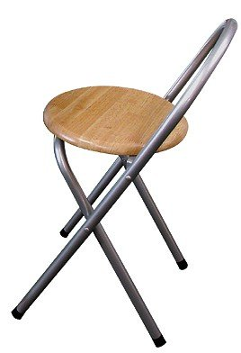 Klappstuhl mit Holzsitz