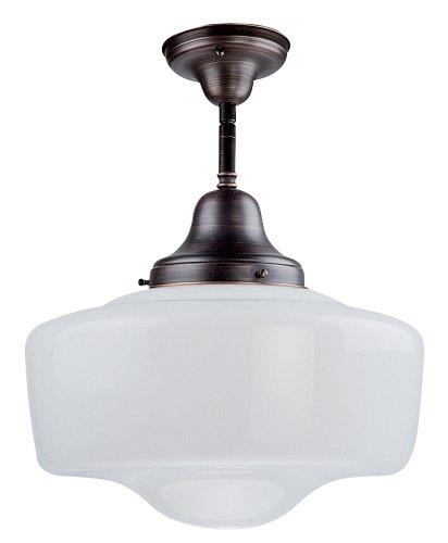 (DVI DVP7511SN Schoolhouse Semi Flush Ceiling Light)