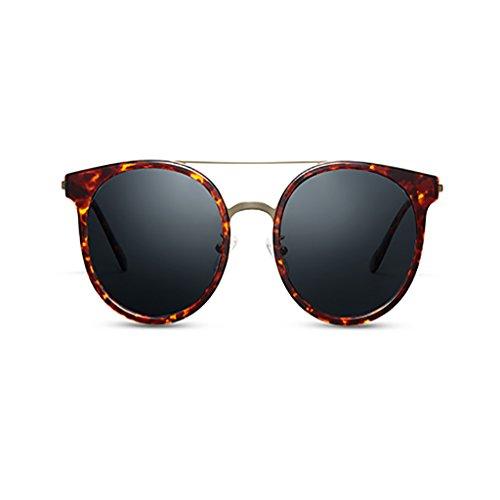 YONGLIANG Outdoor-Produkte Retro-Rahmen Sonnenbrille Polarisator Treibspiegel Metall Sonnenbrille Sonnenschirme Strand Reise Obligatorisch (Color : Amber) (Yellow Rahmen Sonnenbrillen)