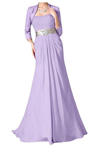 Vestido de novia sin tirantes con estilo Toscana Bolero vestidos de Gasa de noche de satén de novia vestidos de fiesta de madre de largo vestidos de bola morado