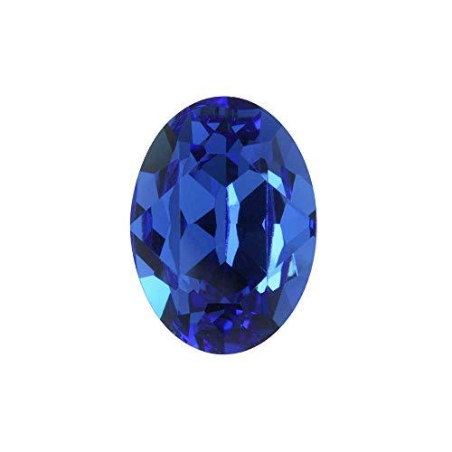 Swarovski Crystal, 4120 Oval Fancy Stone 18x13mm, 1 Piece, Sapphire F