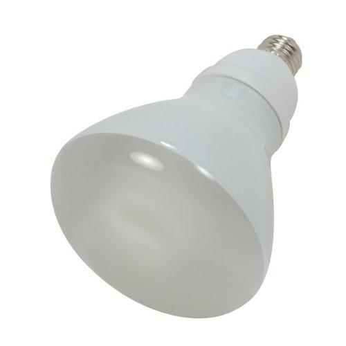 Satco S7247, 15-Watt Medium Base R30 Reflector, 2700K, 120V, Equivalent to 65-Watt Incandescent Lamp, Compact Fluorescent Bulb  (Pack of 12)