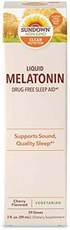 Sundown Sublingual Melatonin Liquid Cherry Flavor, 2 Ounces