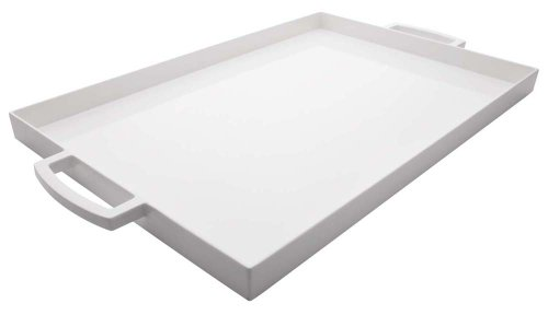 Zak Designs 19.5in x 11.5in Large MeeMe Serving Tray, Eggshell White LT -