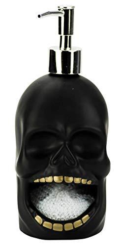 Black Skull - Soap Pump & Scrubby