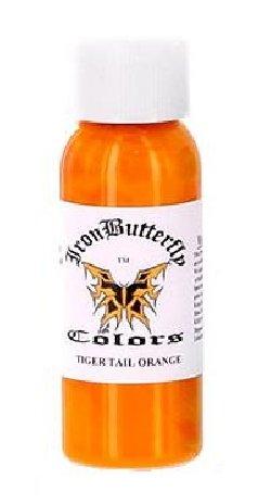 (Iron Butterfly ink -TIGER TAIL ORANGE 4oz Bottles -Tattoo)