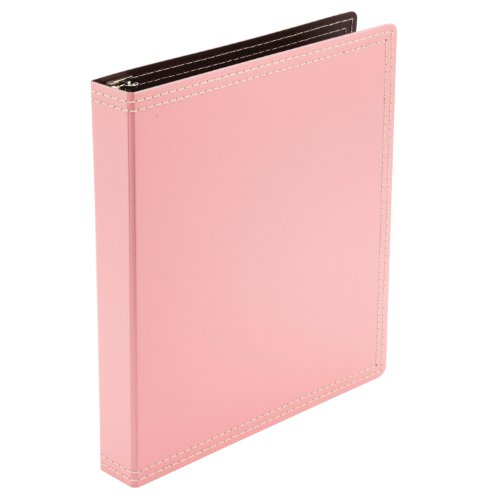 Wilson Jones Resource Recycled 3-Ring Binder, Durable Hinge, 1 Inch Capacity, Pink (W31921) ()