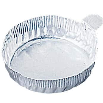 Cole-Parmer AO-01018-50 57 mm Aluminum Crimpled-Walled Weighing Dishes with Tab, 60 mL, 100/Pk by Cole-Parmer