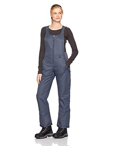 Arctix Women's Essential Insulated Bib Overalls, Steel, Large (12-14) Short