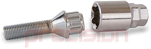 Precision Extended 40mm Chrome Locking Alloy Wheel Bolts for Ṿauxhall Crossland X PN.SFP-B2240215