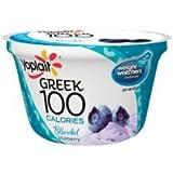 Yoplait Greek 100 Calorie Blended Blueberry Yogurt, 5.3 Ounce - 12 per case.