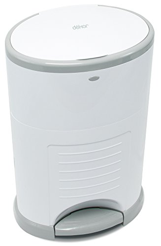 31yz5TBXw9L - Dekor Mini Hands-Free Diaper Pail | White | Easiest To Use | Just Step – Drop – Done | Doesn't Absorb Odors | 20 Second Bag Change | Most Economical Refill System