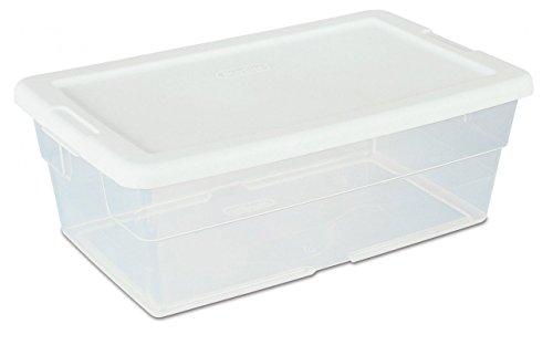 Sterilite 16428012 6 Quart White Storage Box