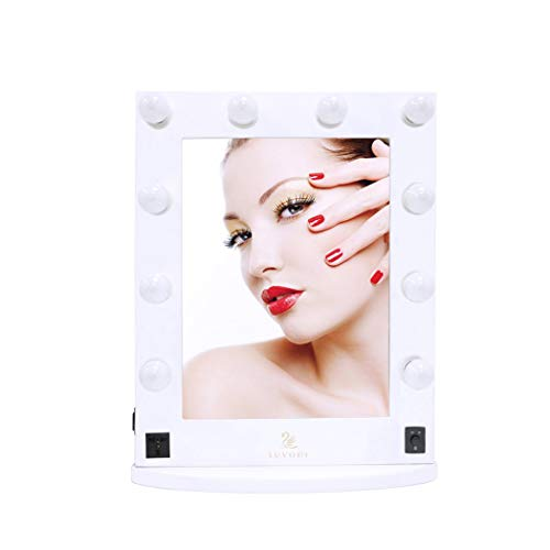 LED Lighted Vanity Mirror, LUVODI Hollywood Style Makeup Mirror With Lights with -