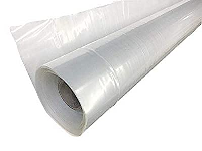 A&A Green Store Greenhouse Plastic Film Clear Polyethylene Cover UV Resistant 25 ft Wide x 32 ft Long