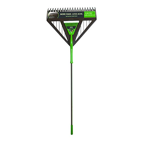 AMES 2714000 2-in-1 Dual-Tine Poly Leaf Rake with Comfort Grip