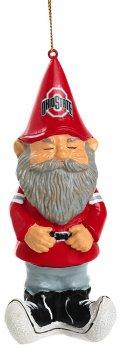 Evergreen Ohio State Buckeyes Ornament Gnome Design