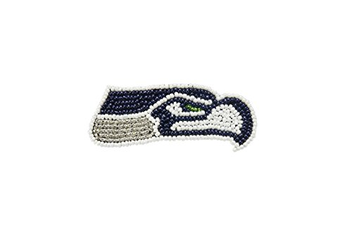 aminco NFL Seattle Seahawks The Grace Collection Sequins and Beads Hair Clip, Green