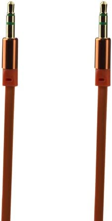 3Feet 3.5mm Stereo Male to 3.5mm Stereo Male Gold Plated Cable for Mobile,Orange