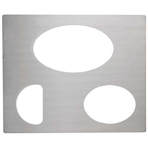 TableTop King 8250514 Miramar Stainless Steel Double Well Adapter Plate for Small Oval, Large Oval, and Half Oval Food Pan