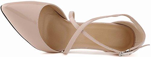 CFP ,  Damen Durchgängies Plateau Sandalen mit Keilabsatz Nude