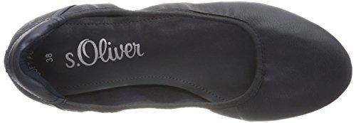 s.Oliver Women's 22119-21 Ballet Flats Blue (Navy 805) siem4