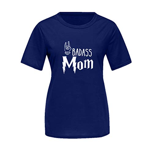 ♞Deadness Summer Fashion Parent Child T-Shirt Lady Tee Mom and Kids Print Tops Outfit Short -