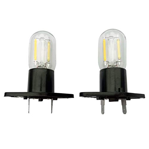 Z187 Led Microwave Bulb Straight Terminals T170 1.5w Refrigerator Lamp Replacement for Lg Smeg Samsung Whirlpool Panasonic Panasonic 58001042 56001070 Wb36x10002 6620g00007b 20w